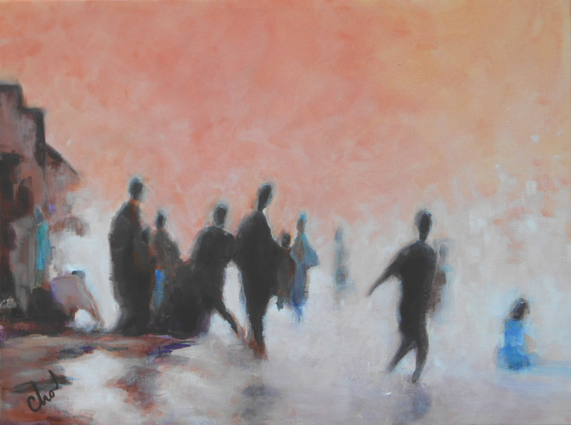 Gathering at Dawn--August 2013 12x16
