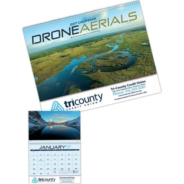 D. Wall Calendar with Drone Aerial Photos