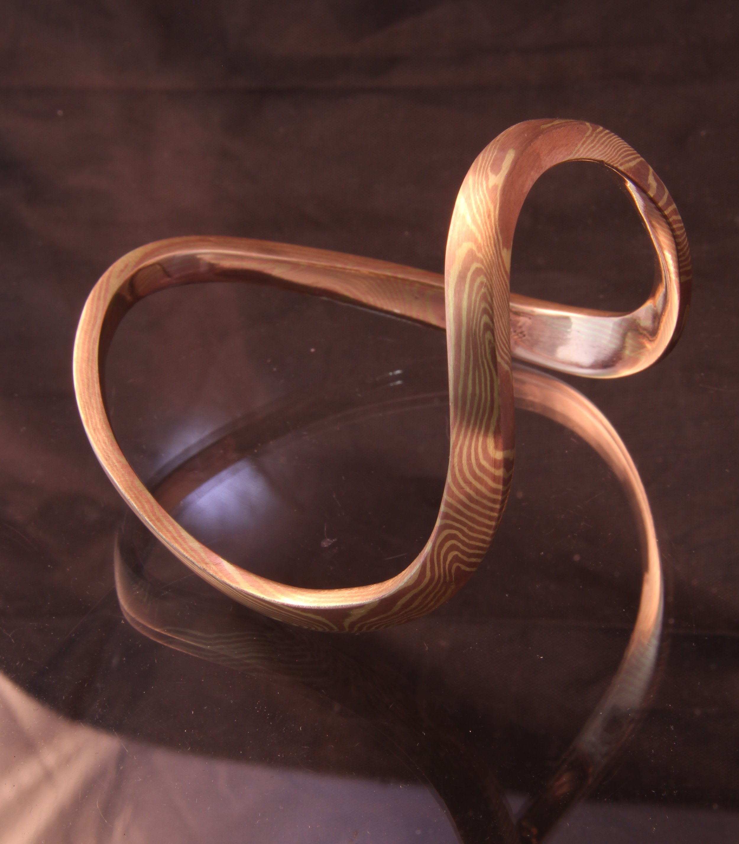 forged bangle mokume gane in stock.jpg
