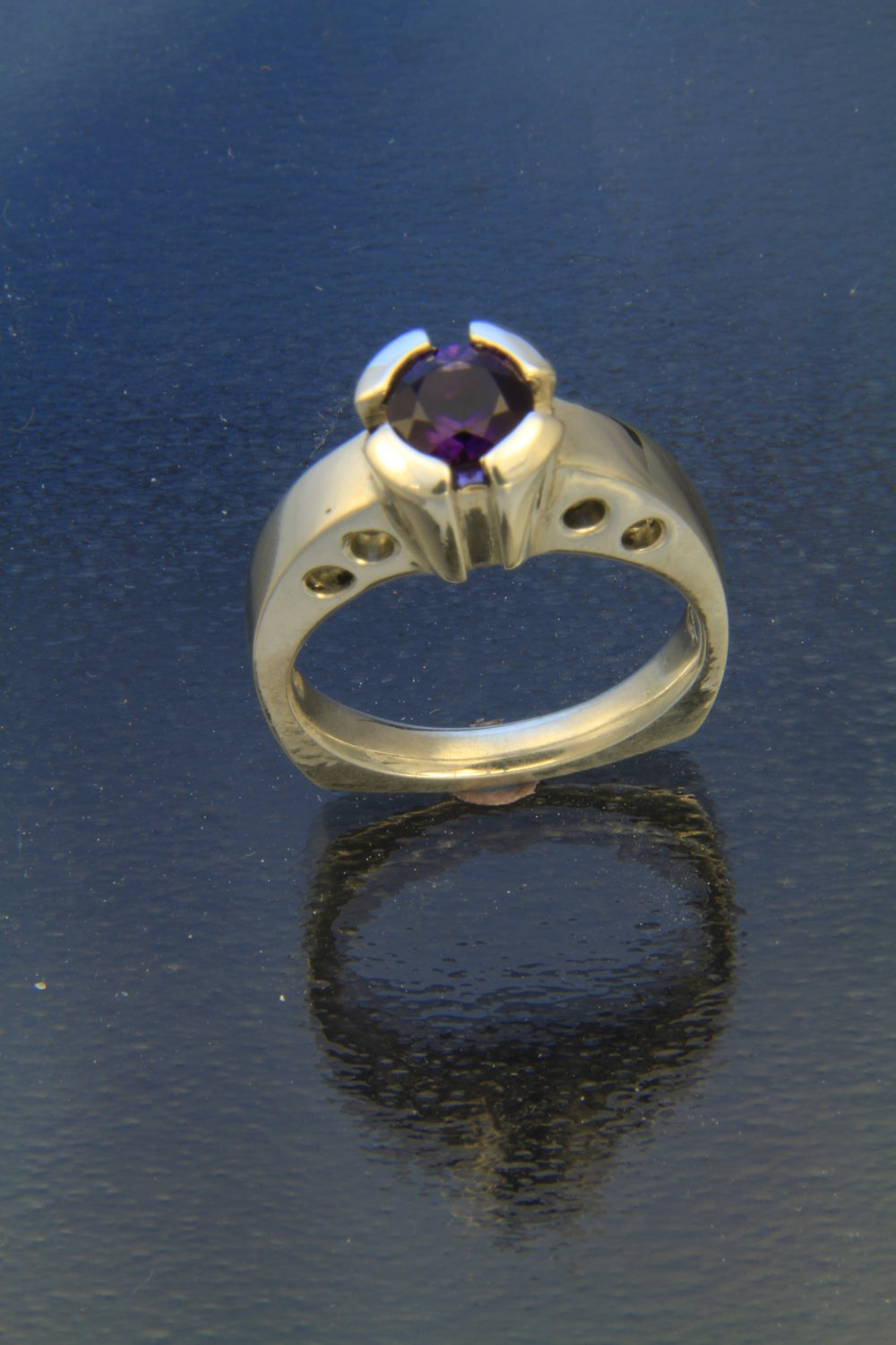 Incantation  Sterling silver and Amethyst ring  Artemisia Craft