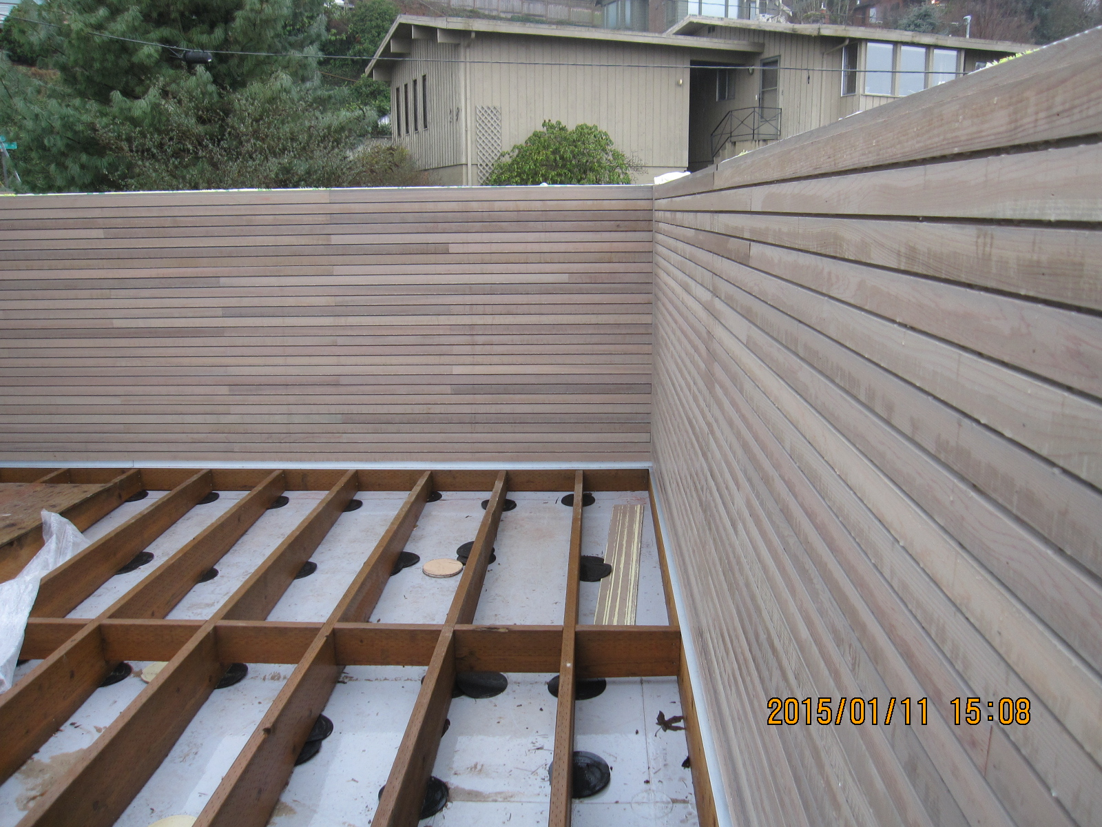 Western Read Cedar Shiplap Siding at new Deck