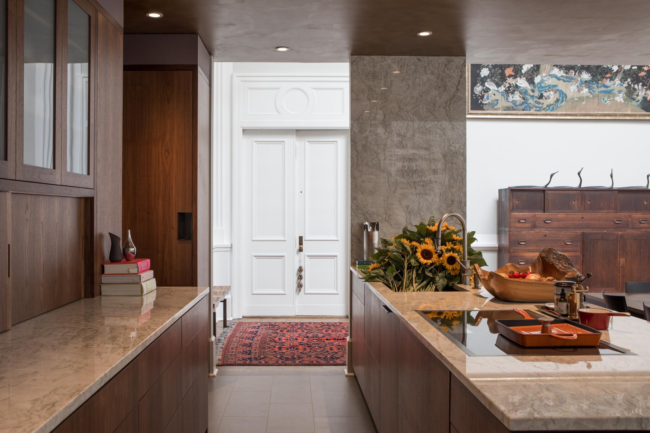 Kitchen West - New Walnut Kitchen Cabinets , Quartzite Tops and Sidewal