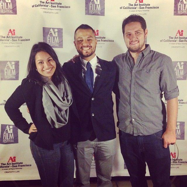 Edgar Garcia premiering his short film at the Ai Film Festival in San Francisco