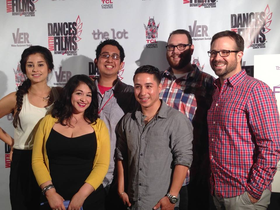 "Miguel & Violeta with some of the cast / crew of ""Casey"""