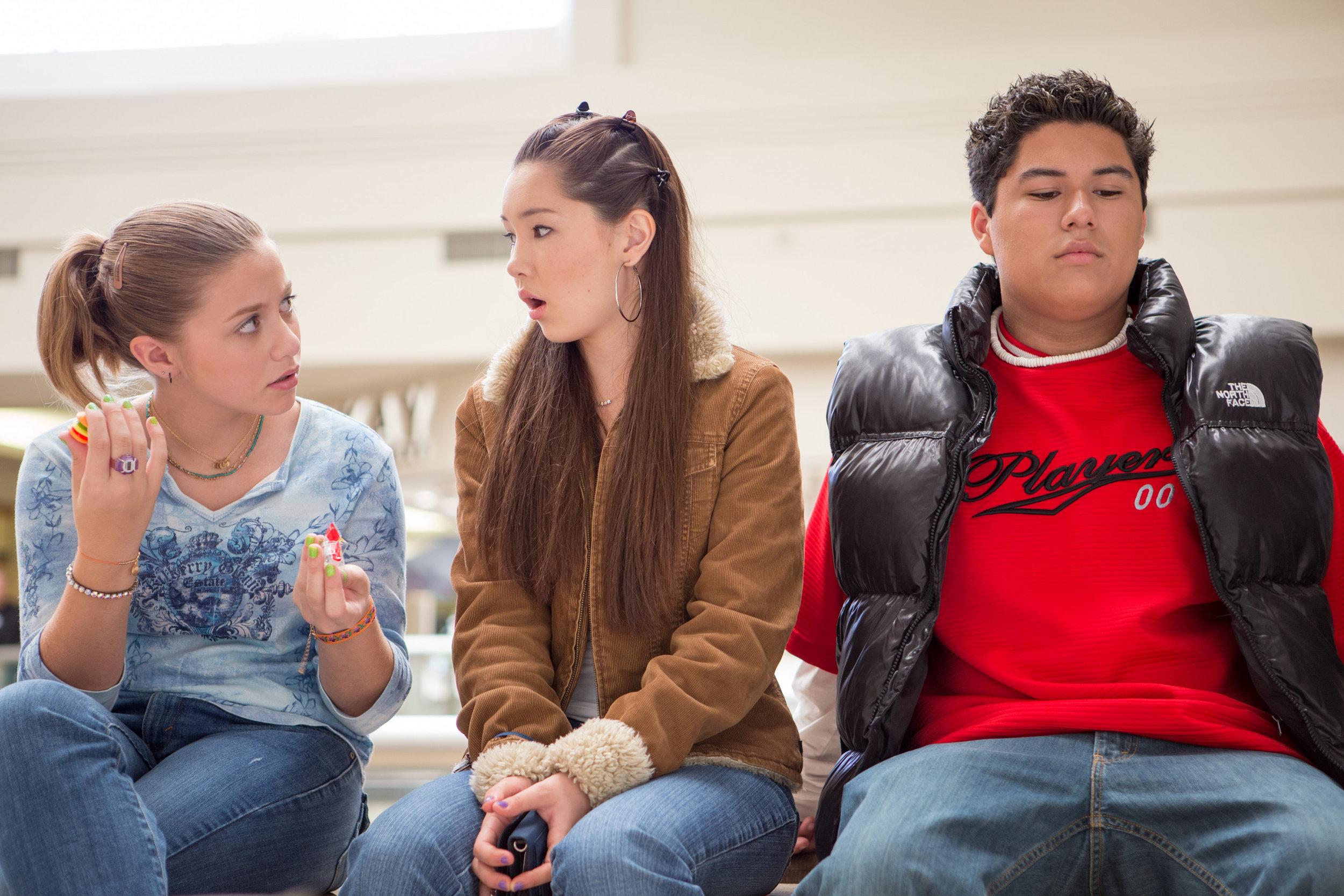 "Shay Backe, as the die-hard bestfriend ""Felicia"" giving advice."