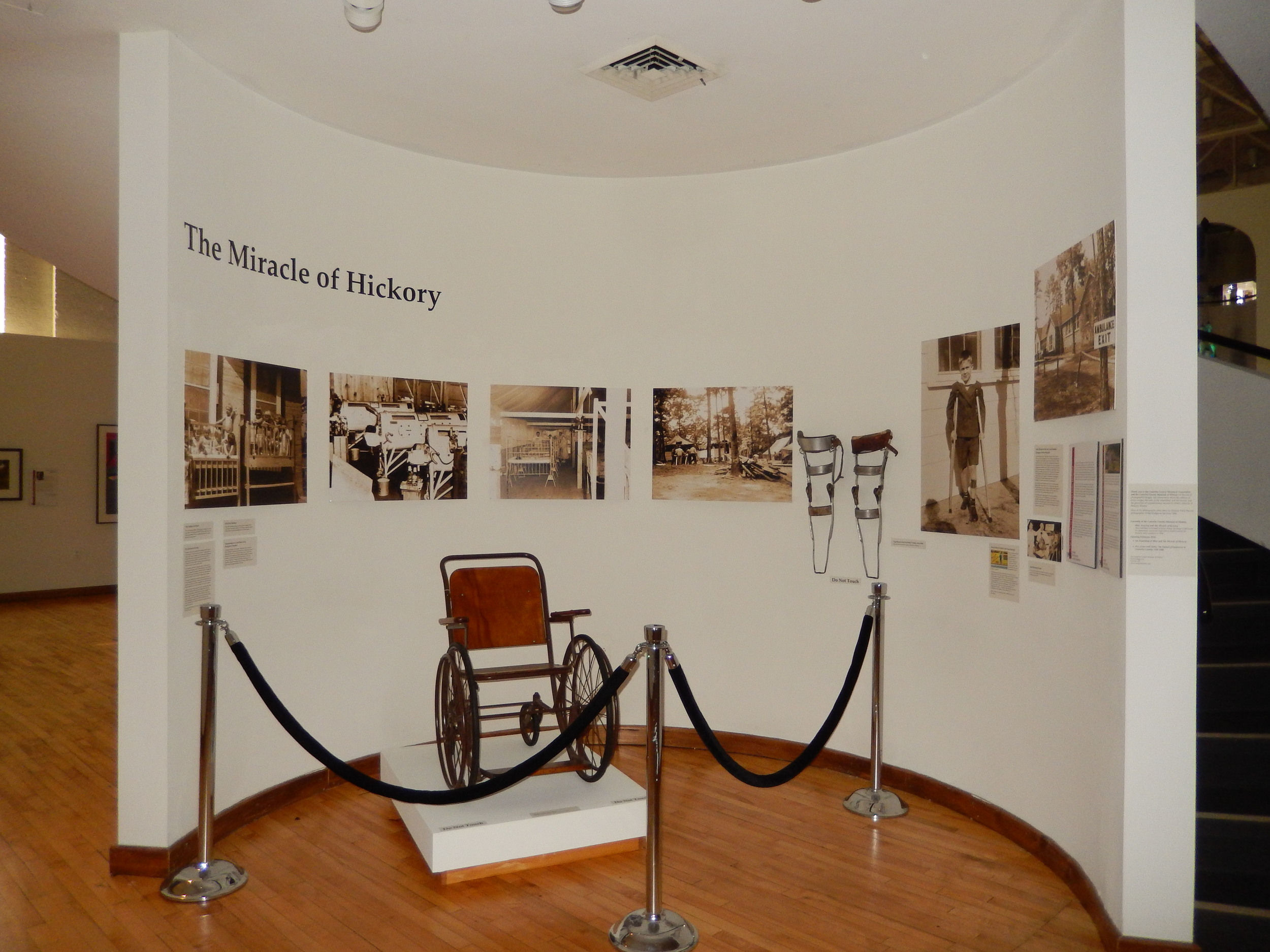"The concluding exhibit for HMA's 70th Anniversary celebrations in 2014 included a section focused on ""The Miracle of Hickory."""