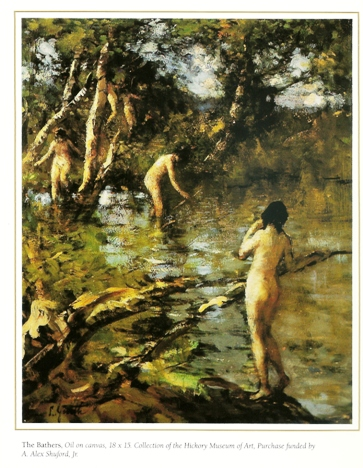 The Bathers,     painted before 1928. Oil on canvas. Purchase funded by A. Alex Shuford, Jr. in 1956.