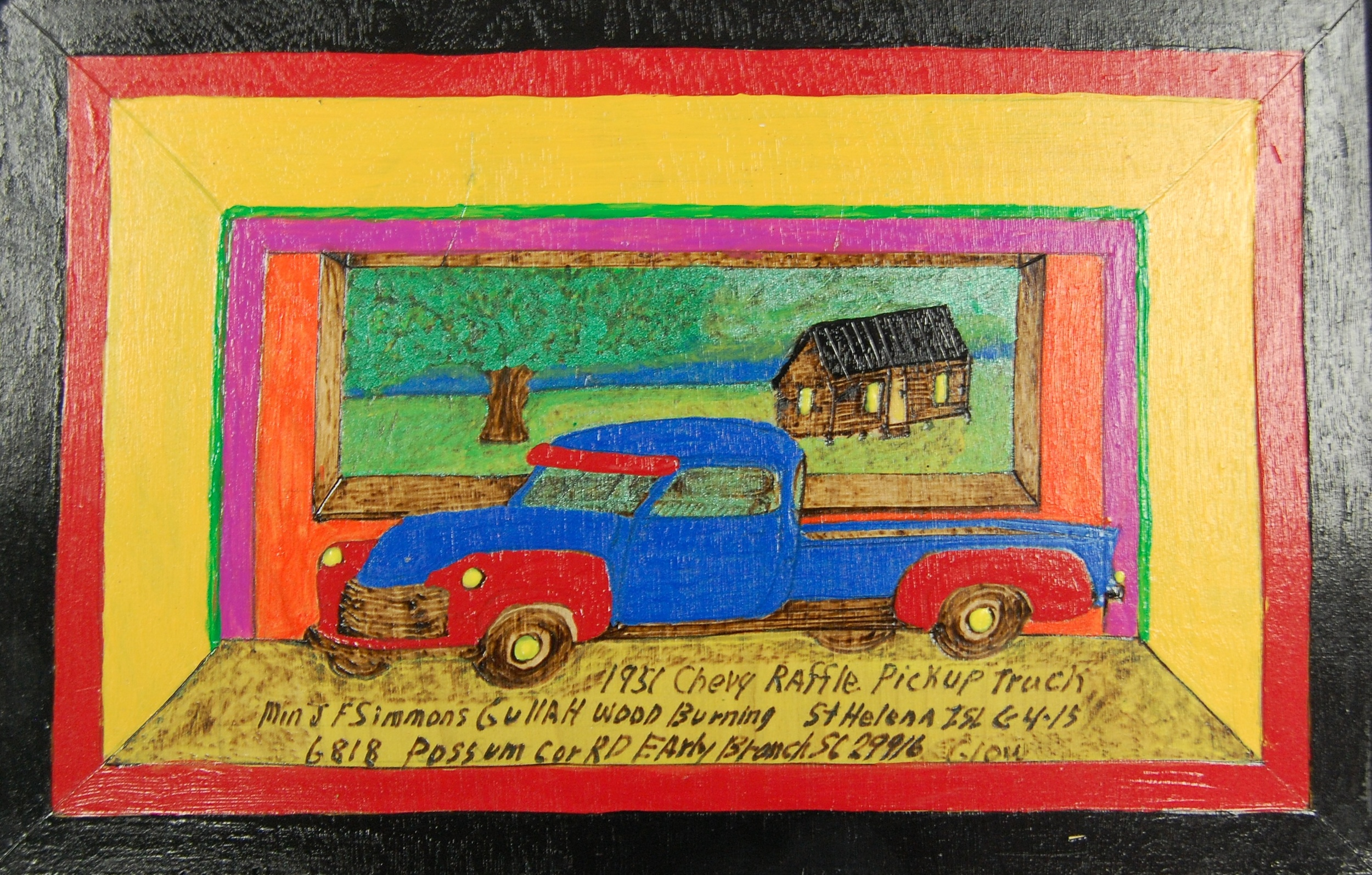Rev. Johnnie Simmons   Blue and Red Truck