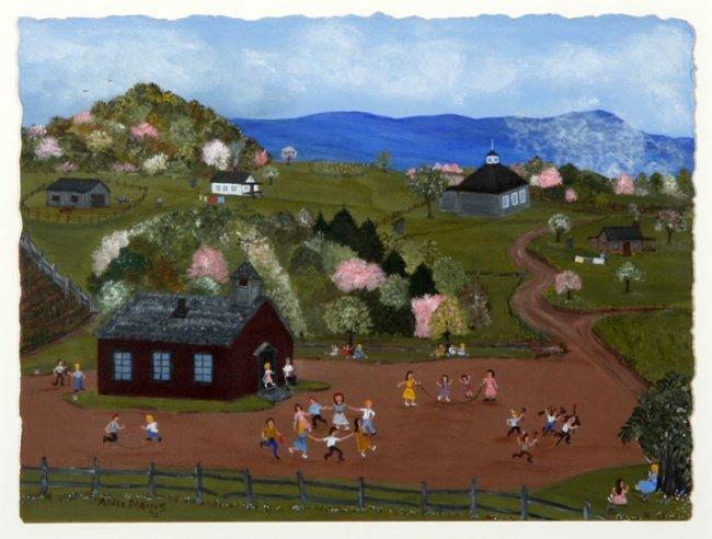 Arlee Mains,  Windy Gap School in Spring.