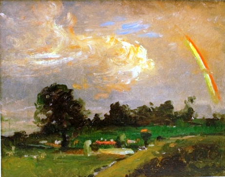 HMA's Daingerfield painting  Rainbow Over the Valley  (undated)