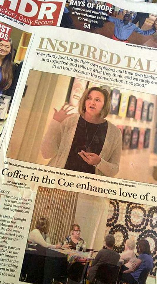 Front page article above the fold in the June 24, 2017  Hickory Daily Record .