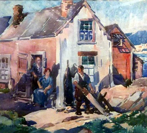 George Pearse Ennis watercolor Village Carpenter.jpg