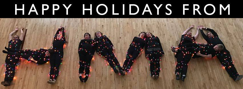 HMA staff collaboratively posed for HMA's 2017 holiday card.