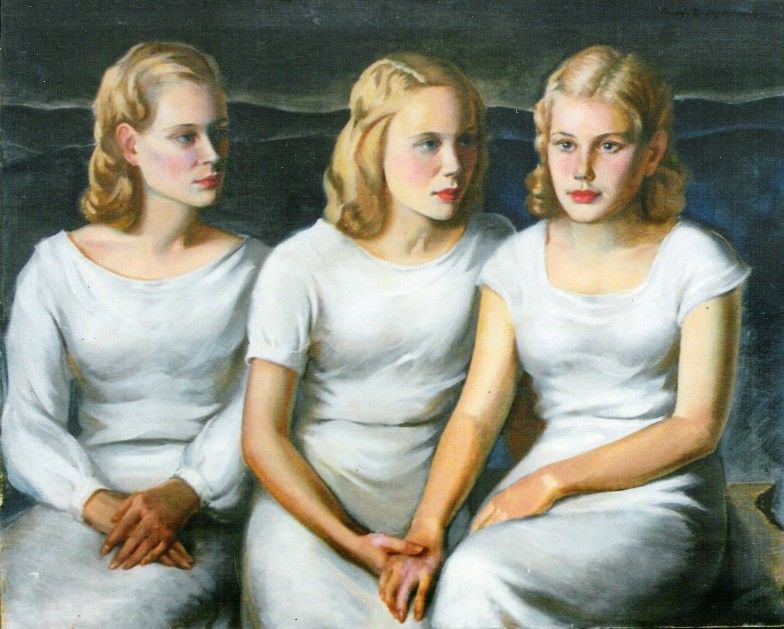 Frank Stanley Herring (1894-1966)      The Three Sisters , 1929 oil on canvas Gift of Mrs. Frank (Beth) Stedman, 2003.31
