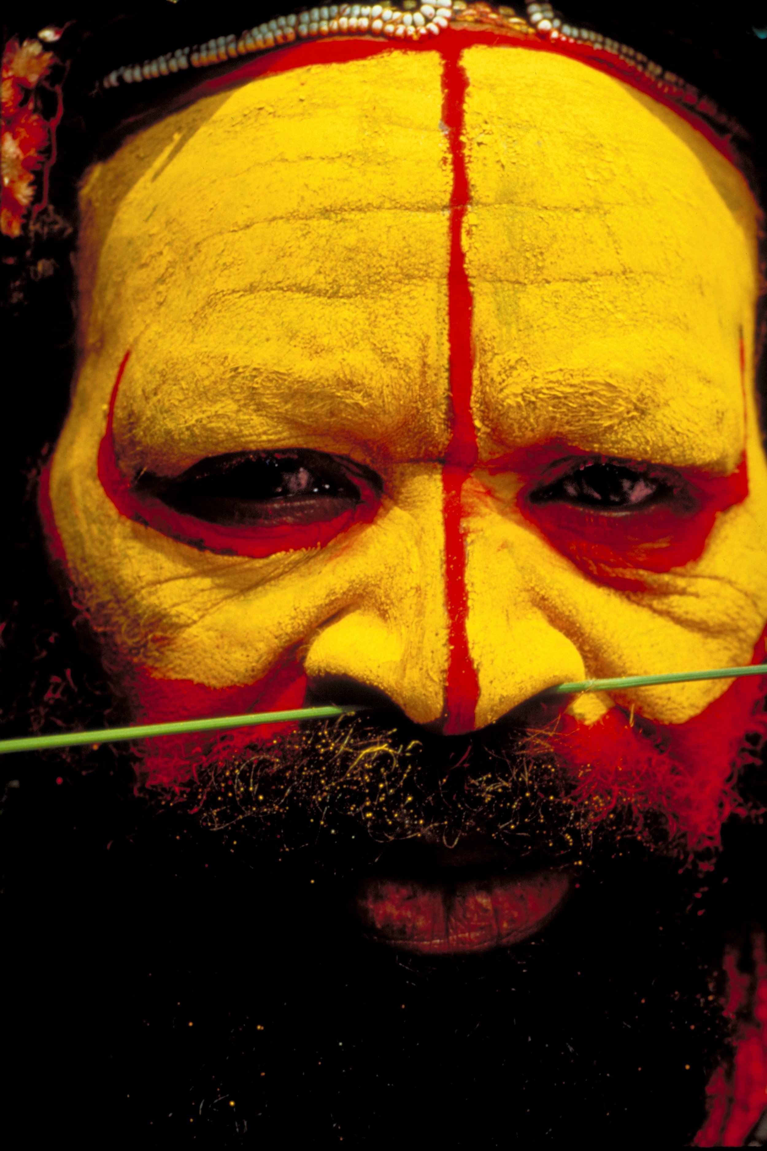 Jeff Cline,  Huli Wigman,  1993,  Papua New Guinea