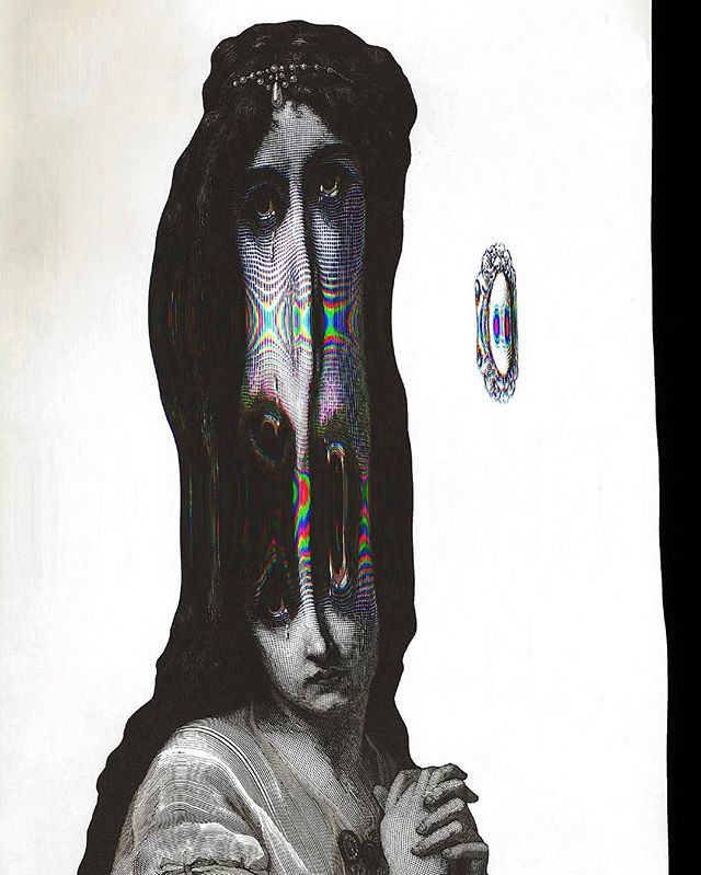 🌦 . . . #scan #scanography #lady #tear #warp #design #art #artist #artwork #work #distort #girl #cry #drawing #photooftheday #a #marchbank