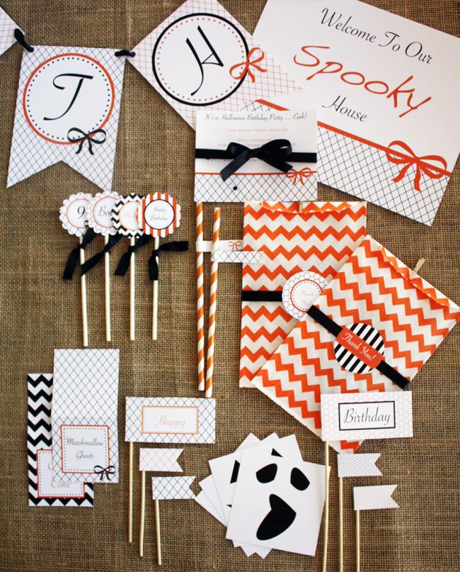 Halloween BirthdayParty Printables