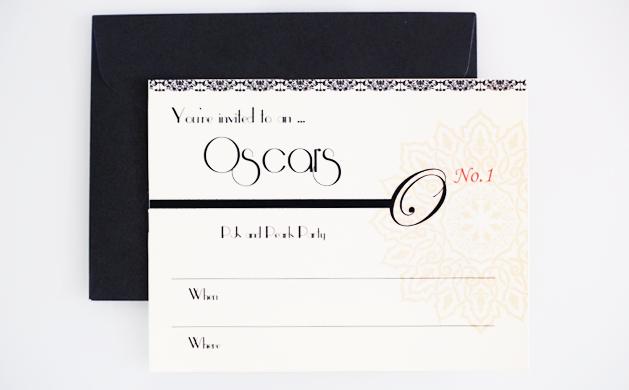 Oscar Party Printable Invitations