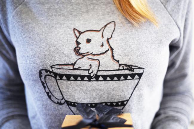 Tea Time Chihuahua Sweatshirt