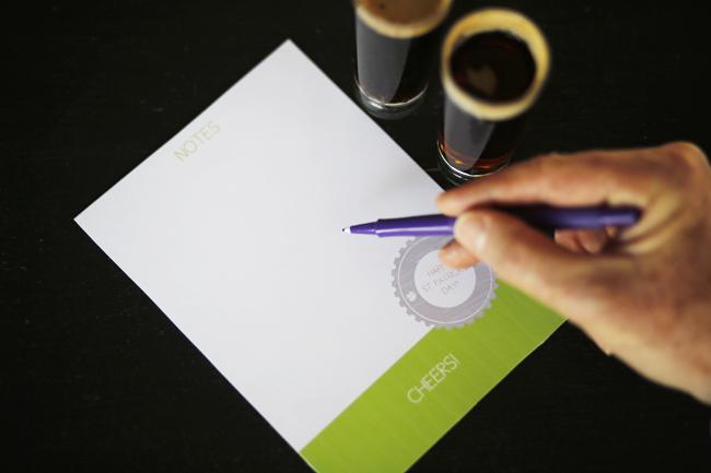 printable beer tasting note cards