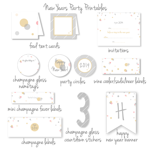 New Years Eve Party Printables