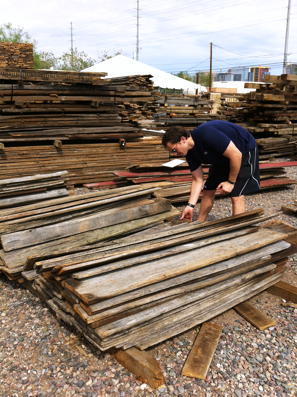 Step 1 - Pick out your reclaimed wood.