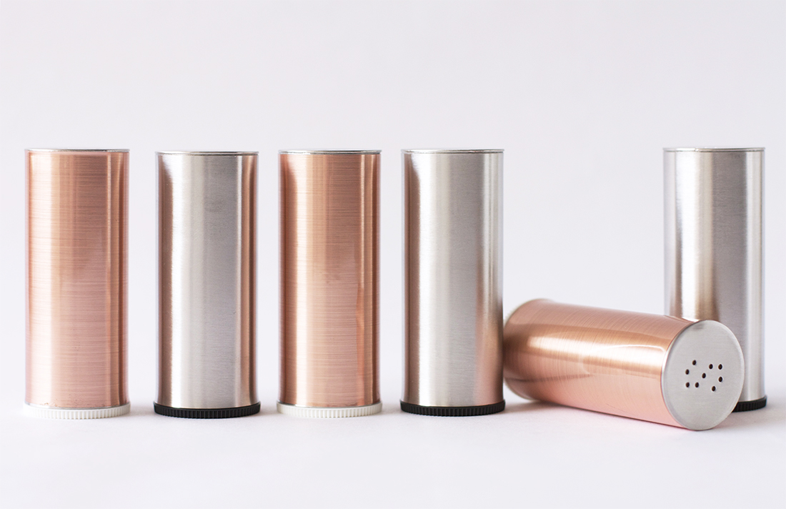 DIY Copper Salt and Pepper Shakers