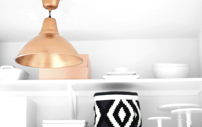 DIY Copper Pendant Light
