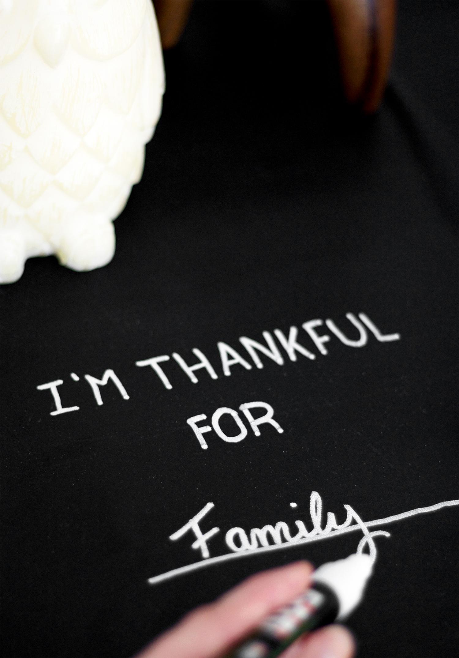 Thanksgiving table DIY