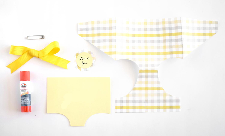 diaper favor tag supplies