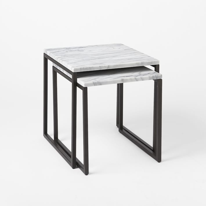 West Elm marble side table