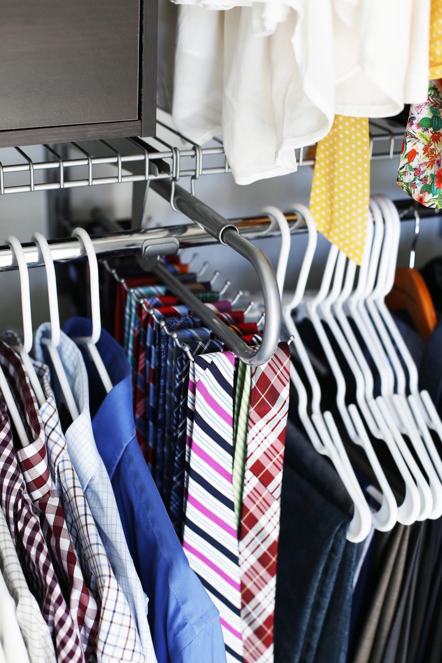 tie rack closet makeover