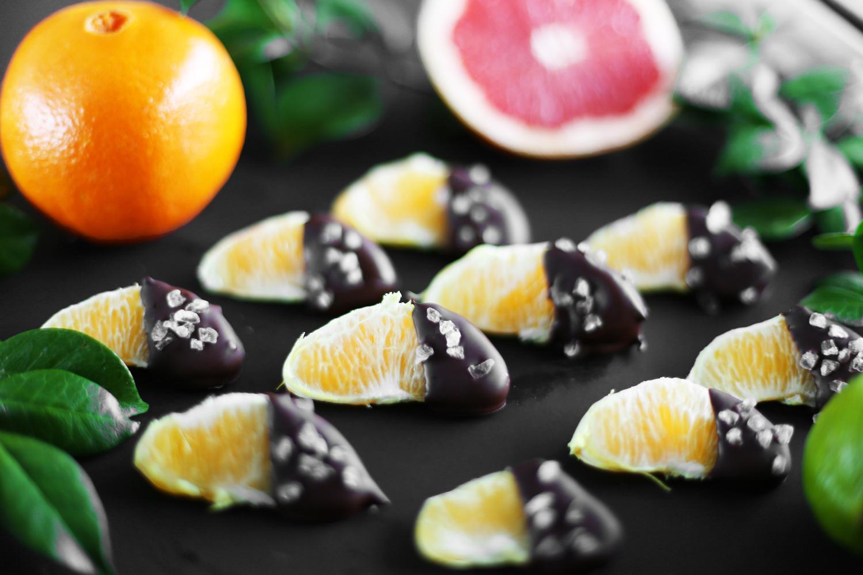 chocolate dipped orange slices recipe
