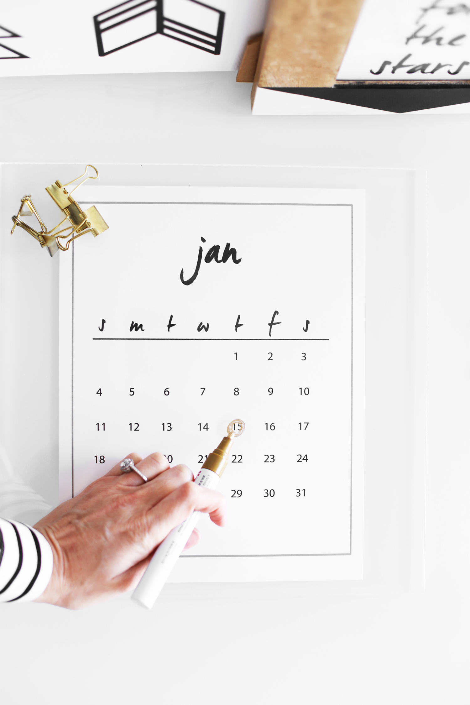 DIY calendar
