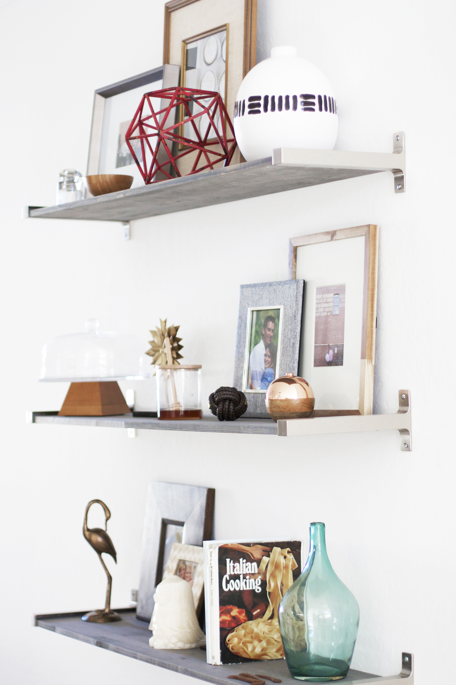 How I Did My Gray Shelves Kristi Murphy Diy Blog