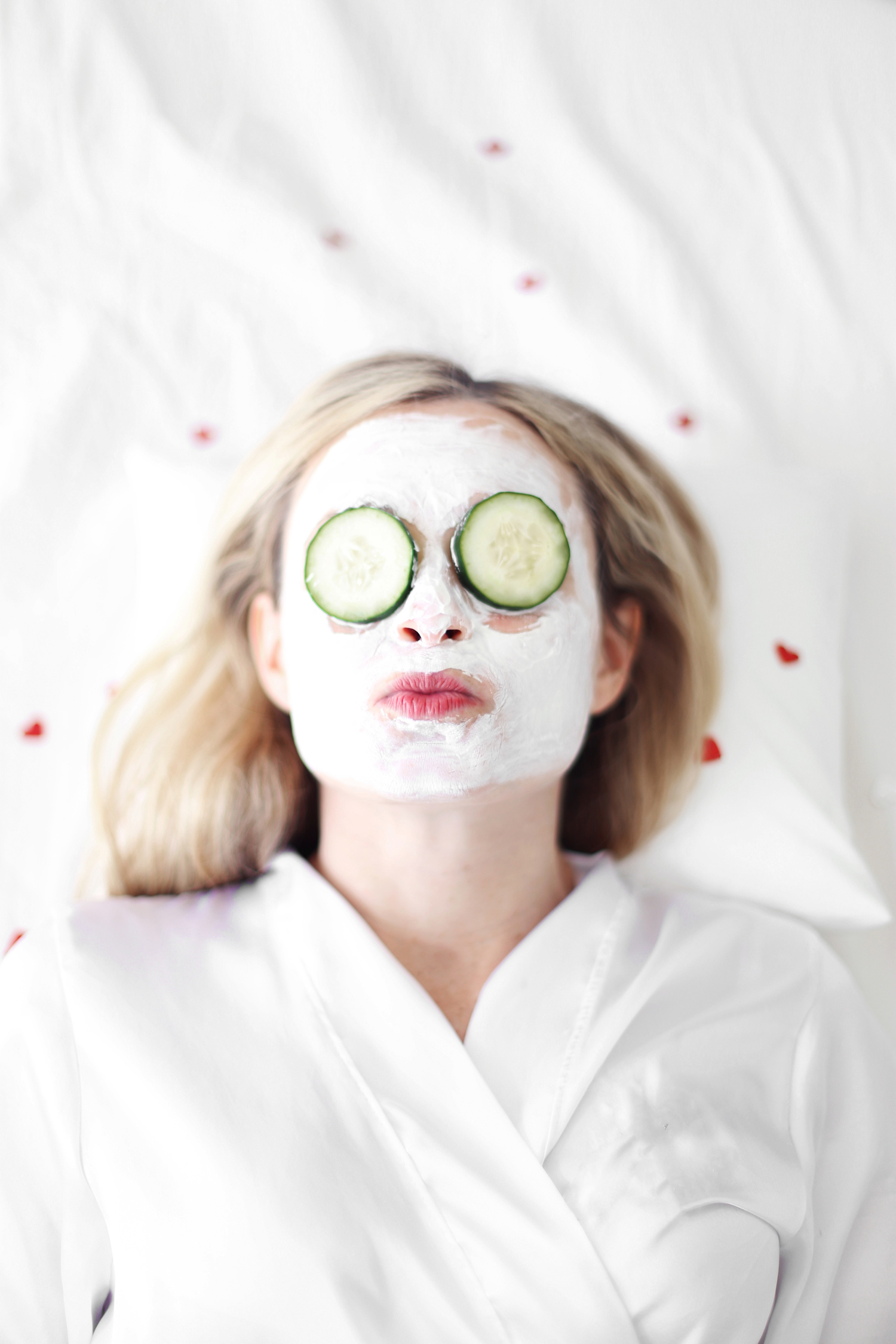 facial mask - Galentine's Day party