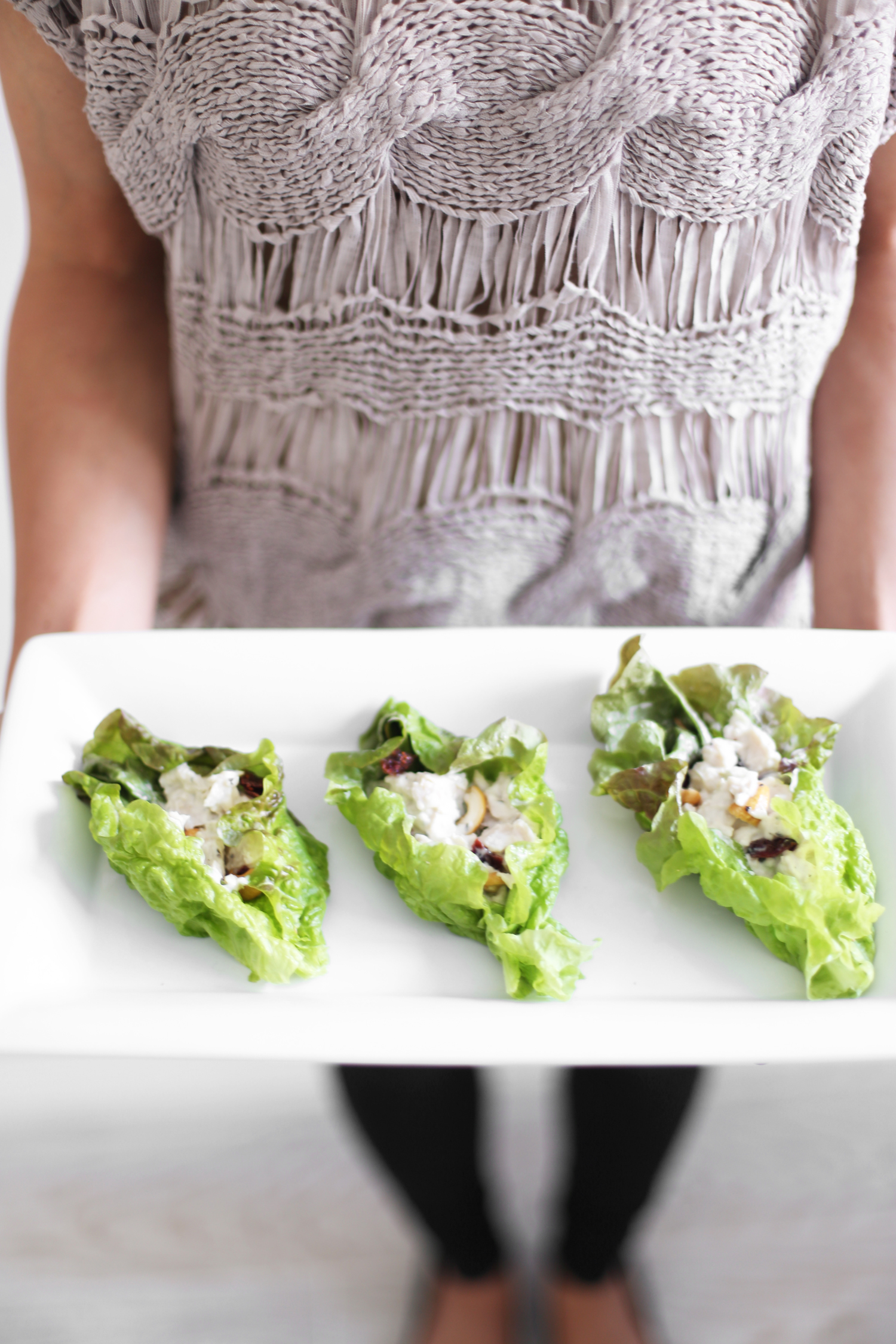 chicken salad lettuce cups healthy party food