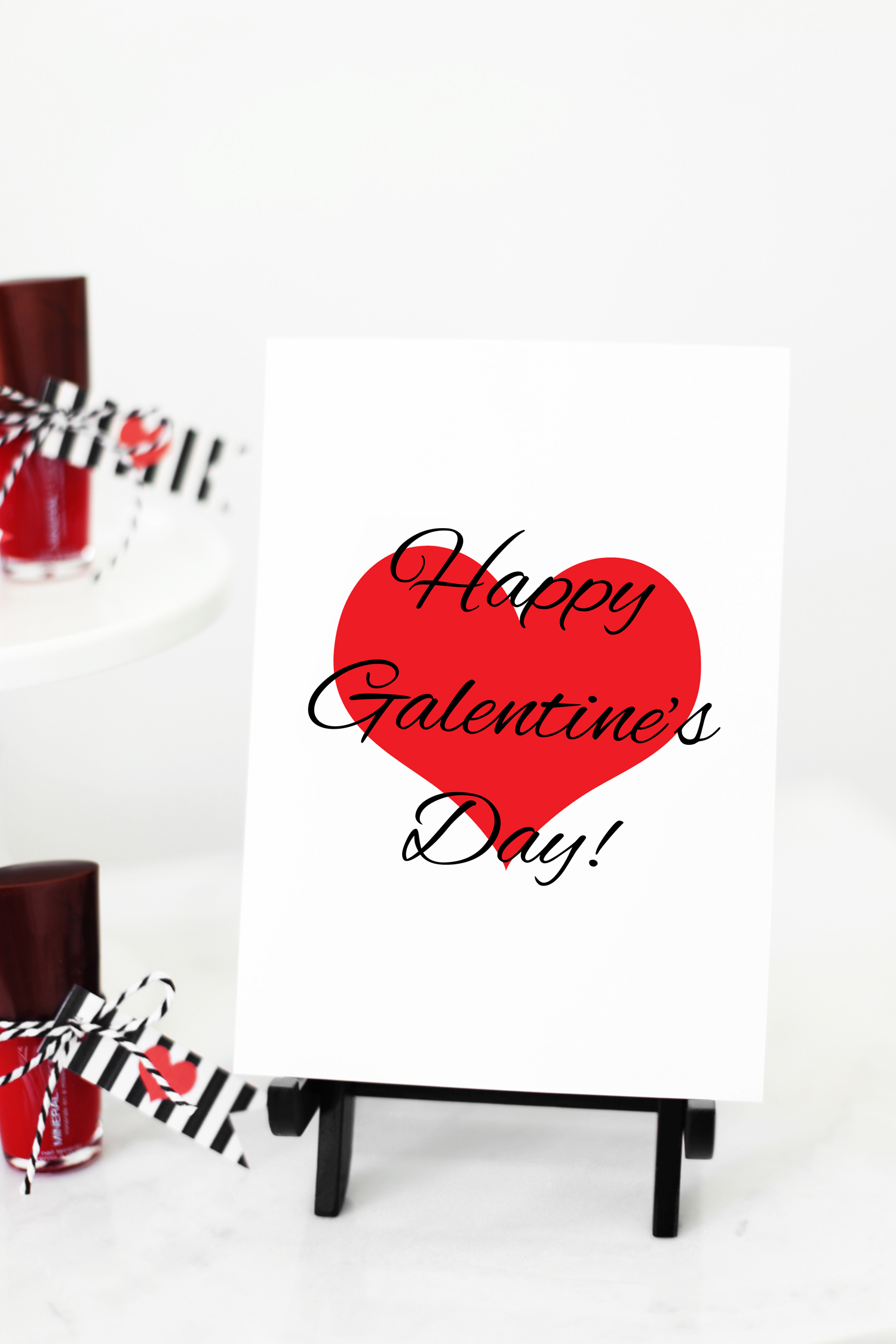 Happy Galentine's Day printable sign