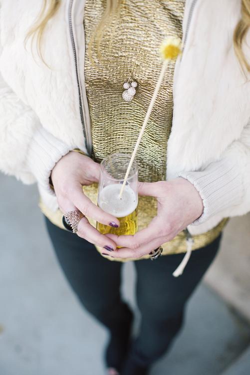 DIY gold drink stirrer