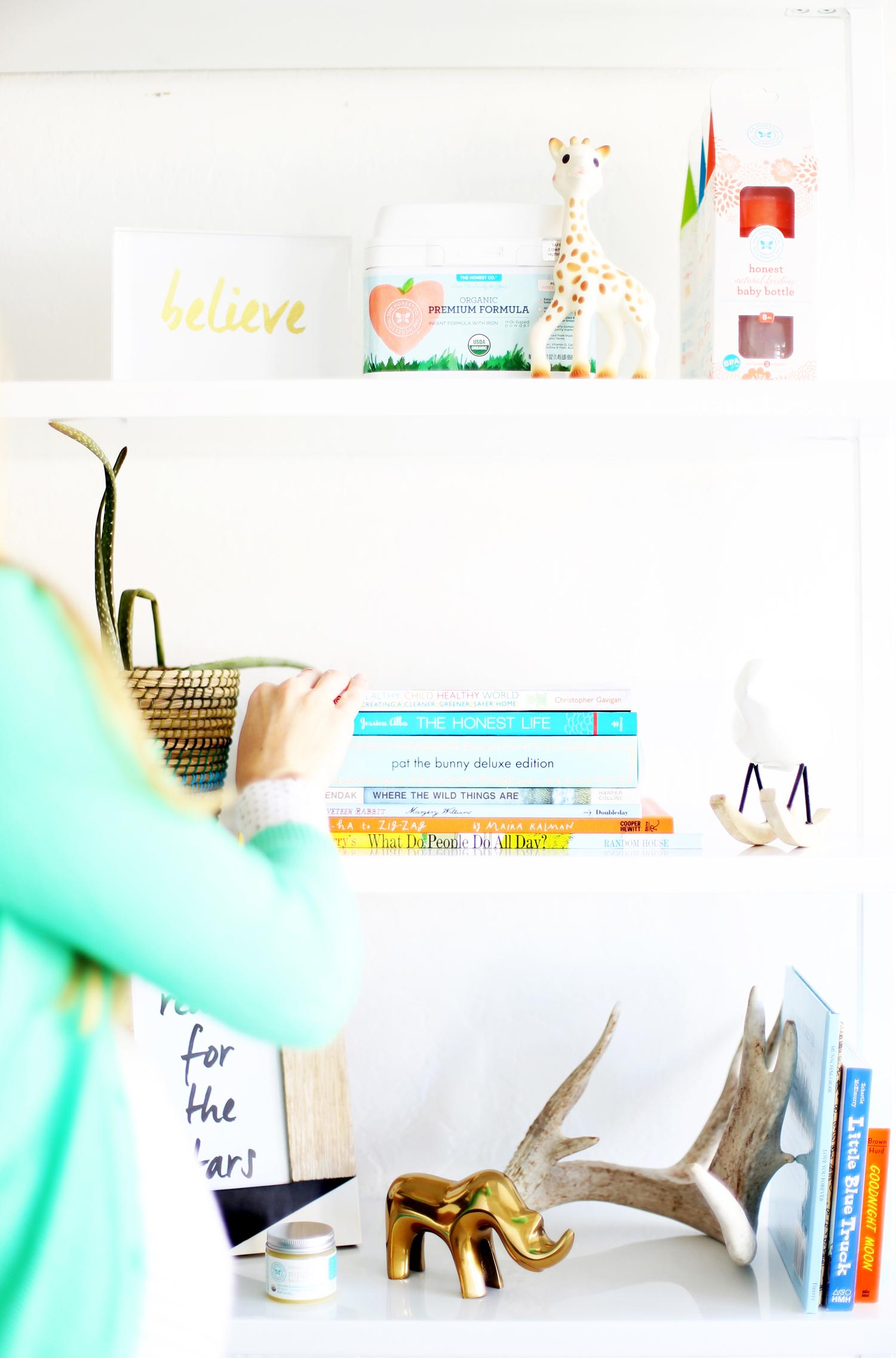 shelves in nursery