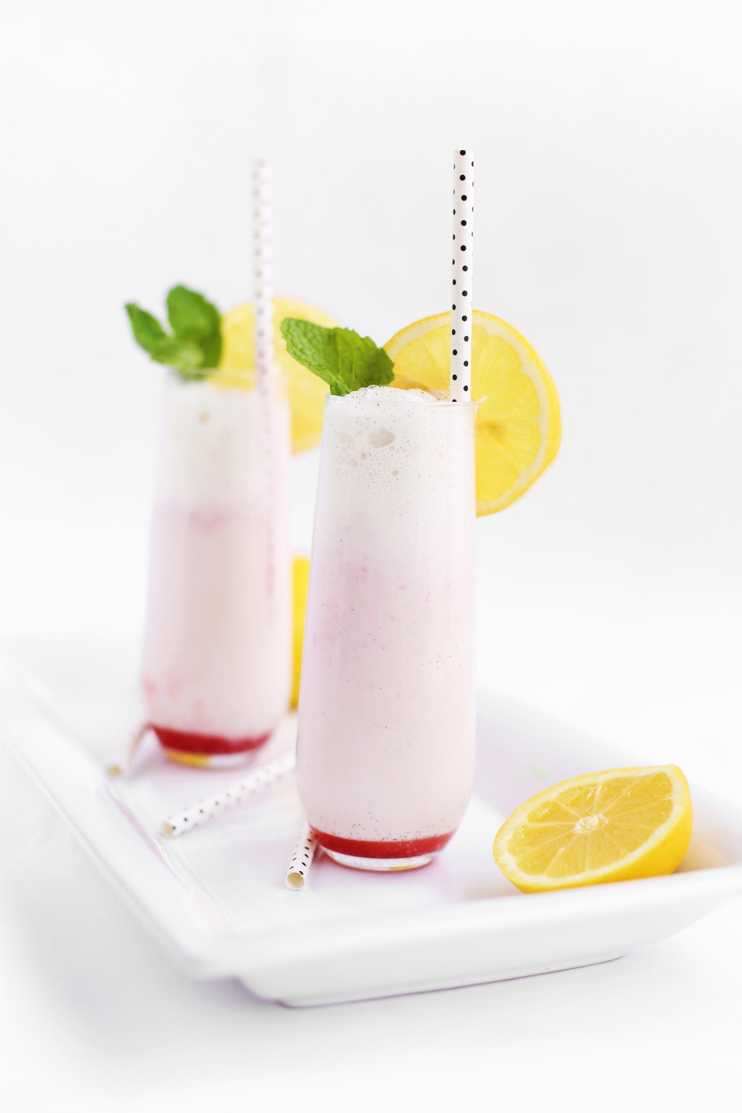 strawberry lemon float soda stream recipe