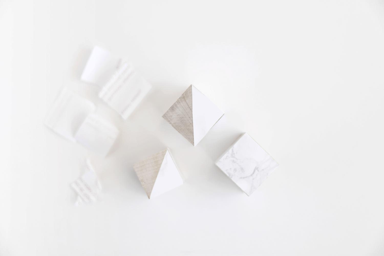 DIY marble and wood blocks for nursery step 1