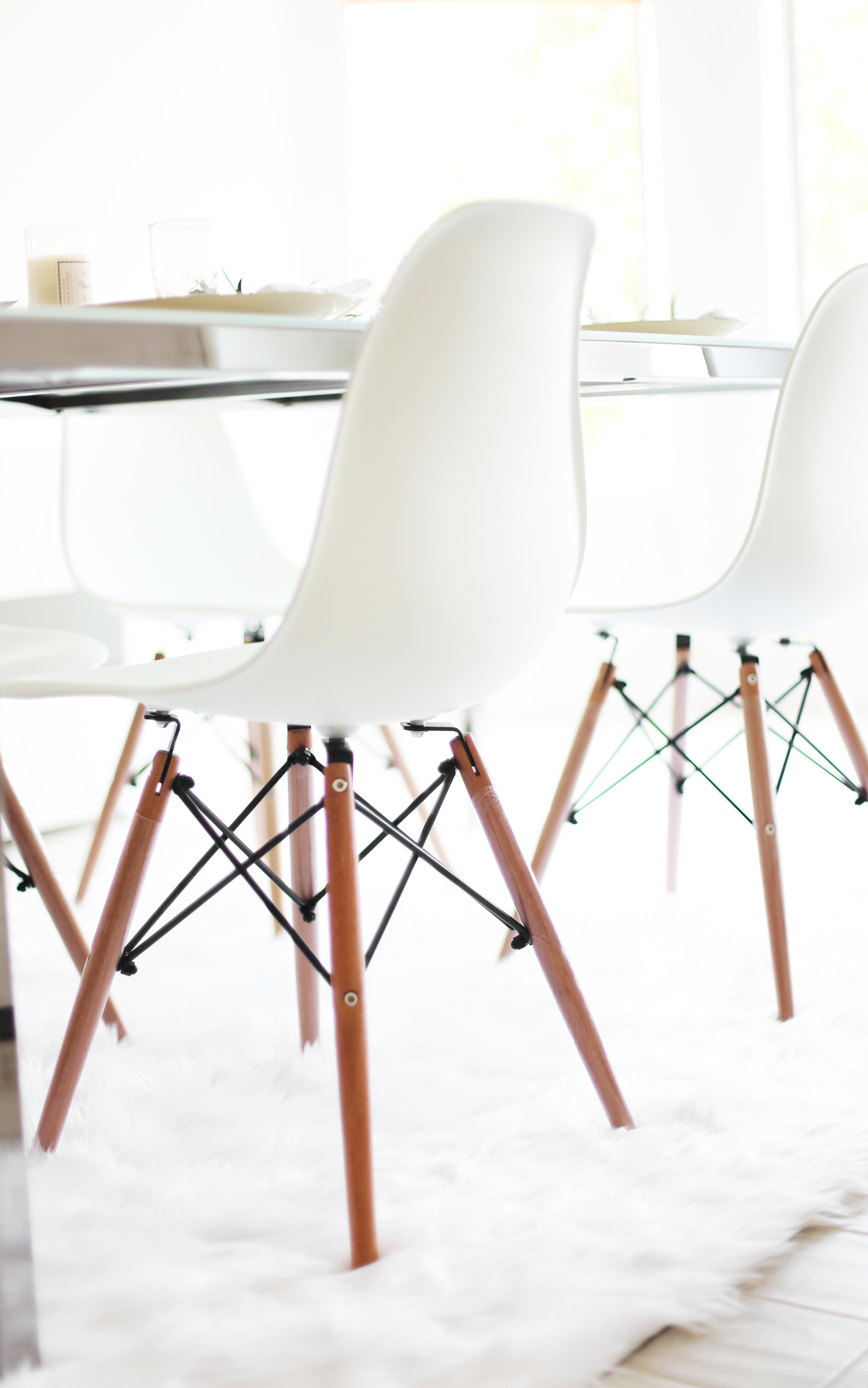 White Molded Evie Chairs Cost Plus World Market