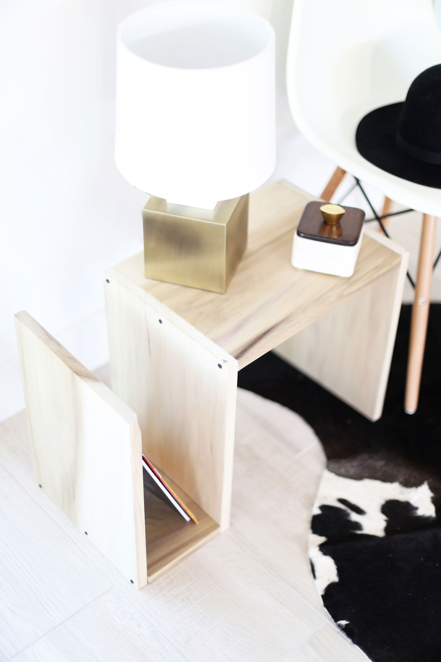 DIY wood end table