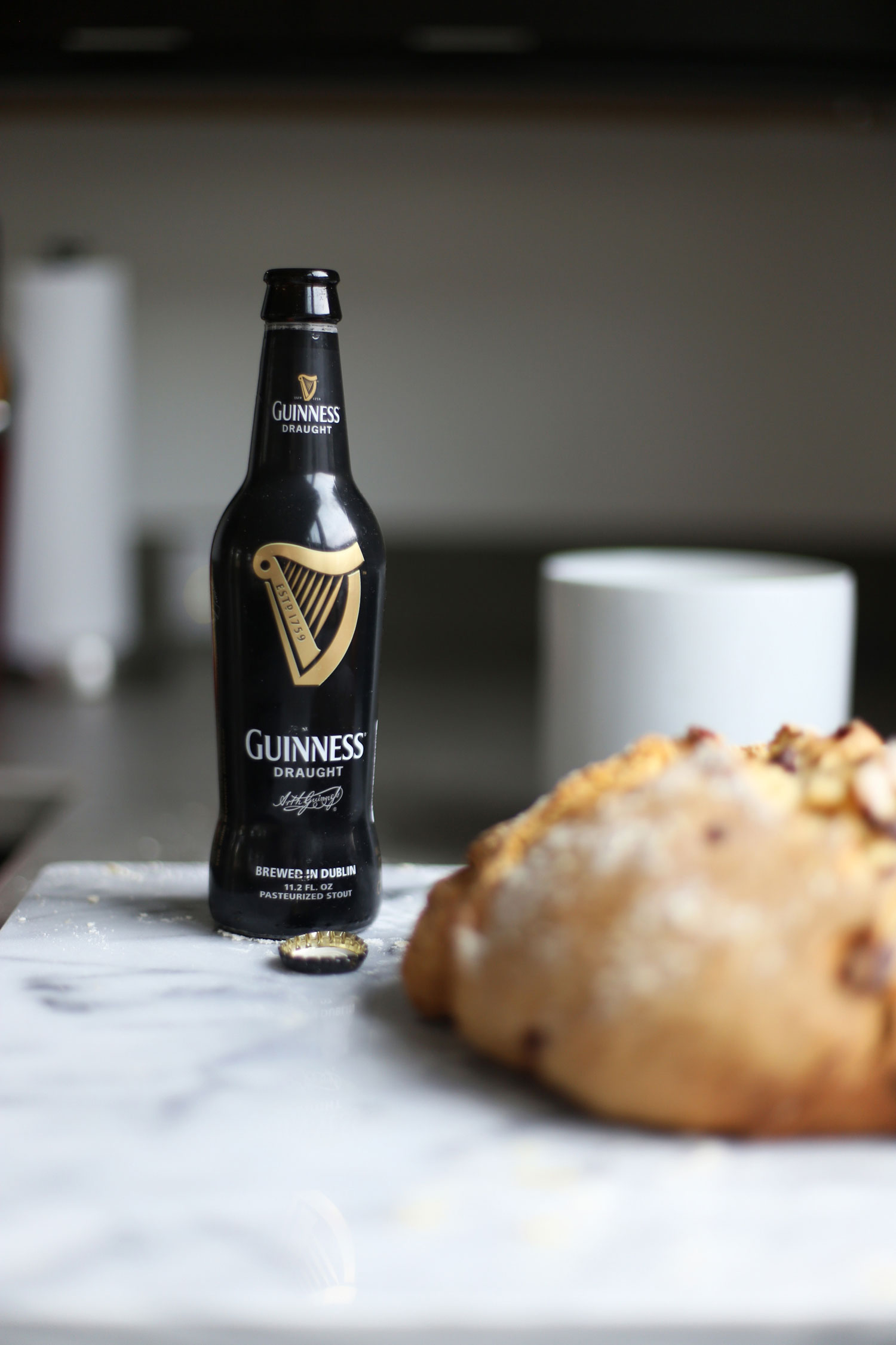 sweet Irish Soda Bread and Guinness