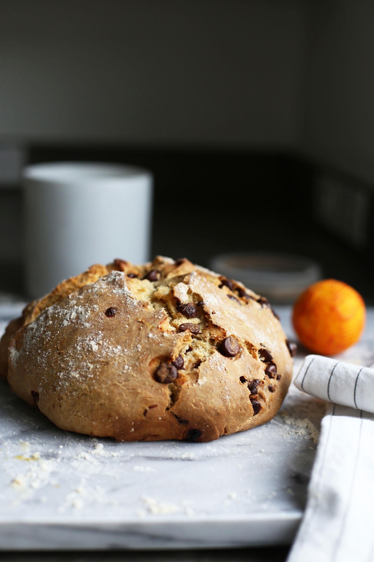 Irish Soda Bread with Orange Zest and Chocolate Chips