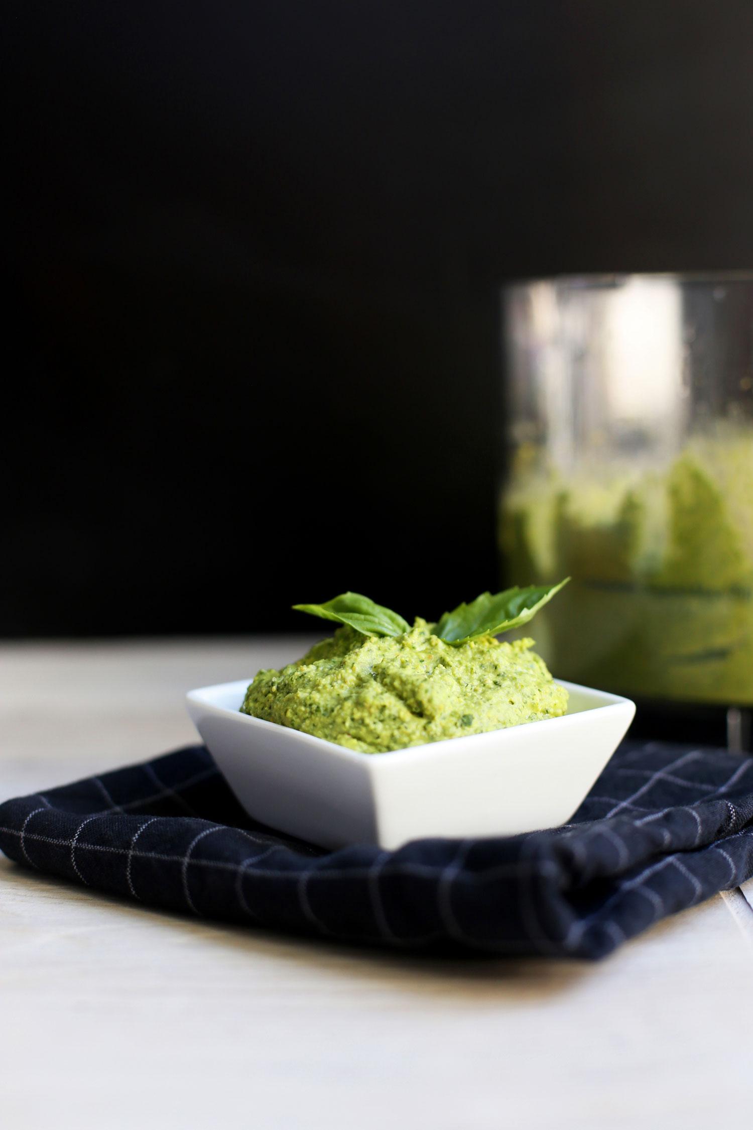 recipe for basil hummus