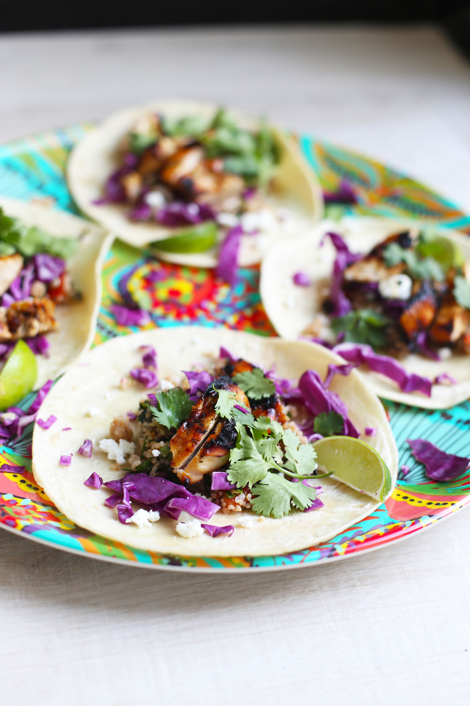 chipotle mango grilled chicken tacos
