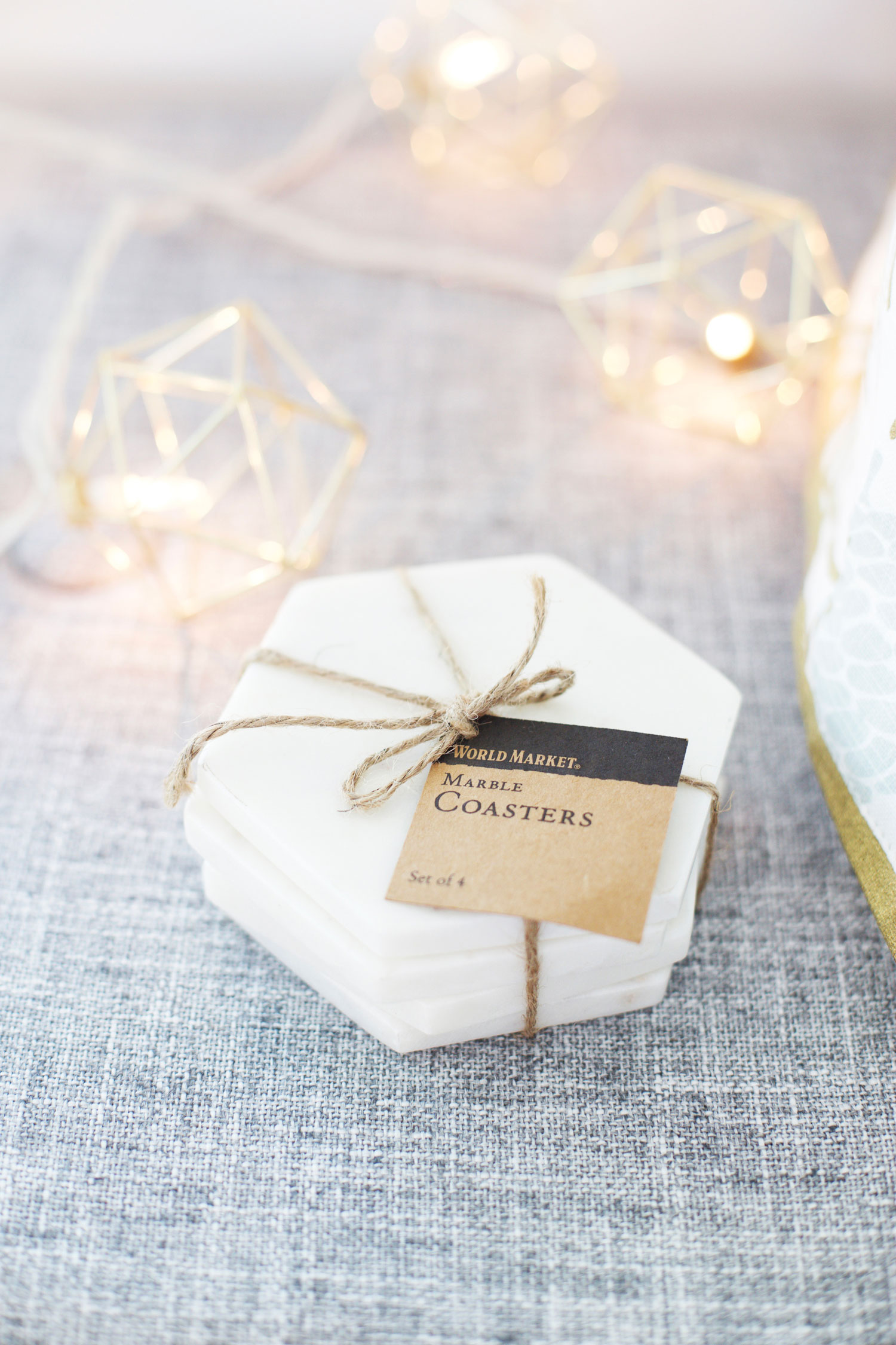 marble coasters things for a gift basket
