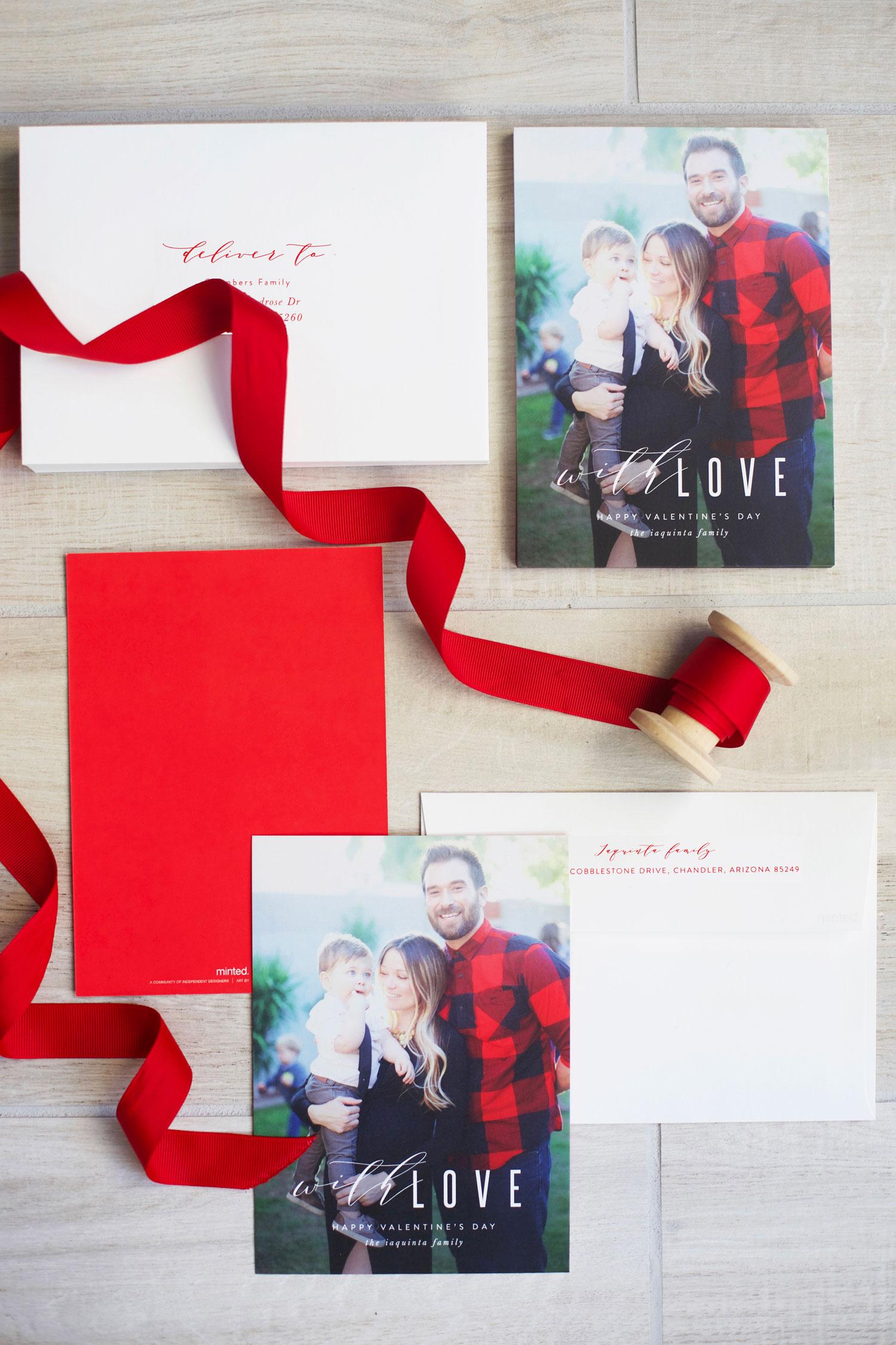 Valentine's Day photo card ideas